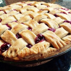 Bumbleberry Pie I Recipe - If you love apple, raspberry, blackberry, and rhubarb pies, then you're in for a real treat. This pie combines them all!