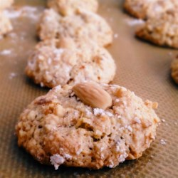Amariette Cookies Recipe - This is a cookie the Italian's make on festive occasions like weddings, or Christmas.  For a festive touch, decorate the top of each cookie with a piece of candied cherry instead of the almond.