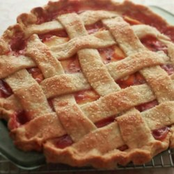 Chef John's Peach Pie Recipe - Chef John's recipe for lattice-top peach pie is the perfect summer dessert.