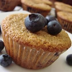 Blueberry Orange Bran Muffin Recipe - The blueberries and orange zest add a special touch to ordinary bran muffins.