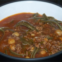 Afghan Tomato Soup (Aush Goshti)