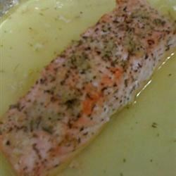 Lemon-Garlic Salmon (w/butter sauce)