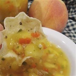Peach Salsa II Recipe - Make the most of peach season with a few jars of this sweet peach salsa.