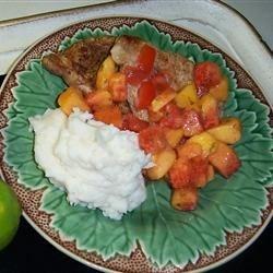 Chops w/Nectarine Salsa