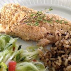 Almond Herb-Crusted Trout for Two Recipe - This almond-crusted trout recipe creates a delicious, quick, and easy dinner for two.