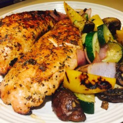 Marinated Turkey Breast Recipe - Tasty turkey breasts are rubbed with spices, bathed in a tangy marinade, and tossed on the grill!