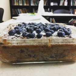 Cocoa Blueberry Cake Recipe - Something I came up with while tinkering with a marble-cake recipe that turned out wonderful. To make it in a Bundt pan, double all of the ingredients except the blueberries.
