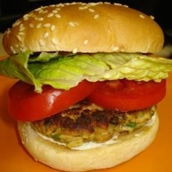 Thai Tuna Burgers Recipe - Tasty Thai tuna burgers with a hint of sesame, ginger, and soy. Made from minced fresh tuna steaks, these are a delicious alternative to the all-beef patty.