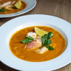 Chilapachole (Spicy Tomato Crab Soup) Recipe - Light and spicy, chilapachole is a seafood soup enjoyed along the Gulf of Mexico. The sweet crabmeat in a piquant tomato broth makes an elegant dinner party starter, or can be served with a few simple quesadillas for an easy dinner at home.