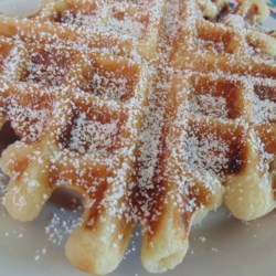 Funnel Cake Waffles Recipe - Funnel cake waffles are a breakfast-version of everyone's favorite fair or carnival food with the deep-frying.