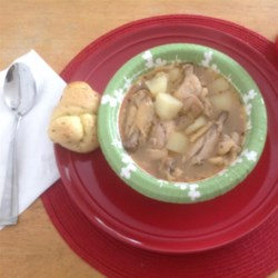 Bahamian Chicken Souse Recipe - This traditional Bahamian dish is served with a side of grits and bread or Johnny cake. Add lime and hot pepper to spice it up to your individual taste. It's delicious and surprisingly simple!