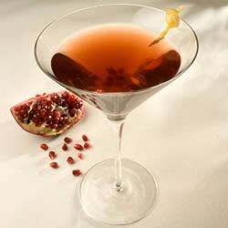 Pomegranitini Recipe - A twist on the cosmopolitan, made with pomegranate juice, vodka, and orange liqueur.