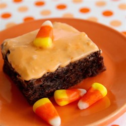 Candy Corn Frosting Recipe - Candy corn frosting is a fun topping for chocolate or vanilla cupcakes and a great way to use up leftover candy corn after Halloween.
