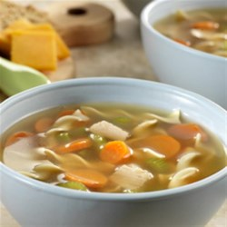 Sensational Turkey Noodle Soup Recipe - Here is a great idea for that leftover turkey! Combine it with a few simple ingredients to make a sensational soup that's incredibly good. It's a breeze to prepare, but one taste guarantees that this will become a soup time favorite recipe.