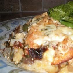 Sour Cream Chicken and Potatoes Recipe - Easy baked chicken with sour cream and potatoes - NO leftovers! Serve with crusty Italian bread.