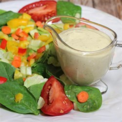 Yogurt Cumin Salad Dressing Recipe - This homemade yogurt cumin salad dressing is a creamy Mediterranean-inspired addition to any salad or dish.