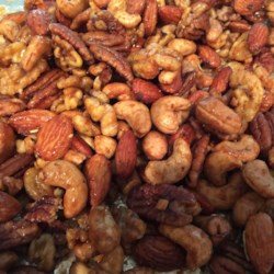 Rosemary and Brown Sugar Mixed Nuts Recipe - Mixed nuts, brown sugar, kosher salt, butter, and rosemary are all you need to make this tasty snack.