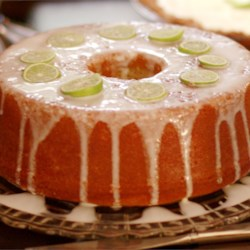 Key Lime Daiquiri Pound Cake Recipe - Key lime juice and rum are baked in the cake, which is then glazed with more lime juice and rum!