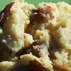Carmelized Onion and Horseradish Smashed Potatoes