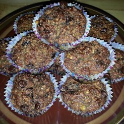 Delicious Banana Vegan Muffins (healthy and sugar free!) Recipe - Muffins made without eggs, milk, or added sugar have a satisfying nutty texture thanks to flax seeds and walnuts. Plenty of mashed bananas, chocolate chips, and raisins add sweetness and flavor.