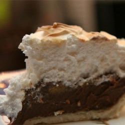 Fudgy Chocolate Cream Pie Recipe - This no-bake pie is a family favorite, and it's so easy to make. You can also top it with meringue and pop it in the oven, or simply serve it chilled with whipped cream and chocolate curls.
