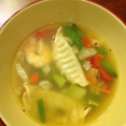 Quick Pot Sticker Soup Recipe - This quick and delicious soup whips up really quick. I add some egg rolls to round out the meal.