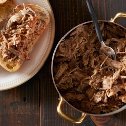 Super Easy Slow Cooker Pork Recipe - Get cozy with this scrumptious slow-cooker meal from Lindsay Ostrom of Pinch of Yum.