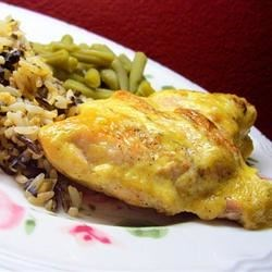 Dijonnaise Chicken Recipe - This is a baked chicken breast with a great mustard taste that you can bake alone or in a casserole dish with prepared wild rice.