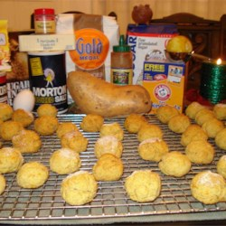 sweet potato cookies II with ingredients