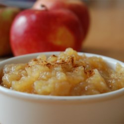 Sarah's Applesauce Recipe and Video - Make your own applesauce at home with just apples, sugar, cinnamon, and this recipe.