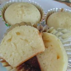 One-Bowl Vanilla Cupcakes for Two Recipe - This one bowl vanilla cupcakes recipe lives up to it's name. Satisfy your craving for a good vanilla cupcake without sacrificing your diet! Make 2 instead of 12.