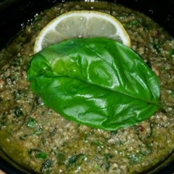 Summer Herb Pesto Recipe - Fresh basil, parsley, oregano, and spinach are blended with pine nuts and Parmesan cheese in this pesto recipe.