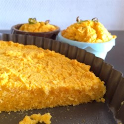 Easy Pumpkin Cornbread Recipe - Quick and easy cornbread baked with pumpkin puree is a great way to enjoy sweet winter squash.