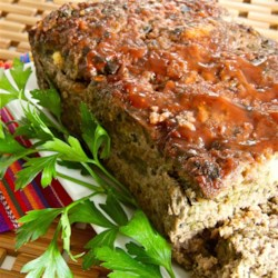 Date Night Meatloaf Recipe - Meatloaf made with dates, roasted poblano peppers, and goat cheese is a special meal to prepare for date night or Valentine's Day.