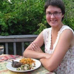 Beautiful Jamie, with chickpeas
