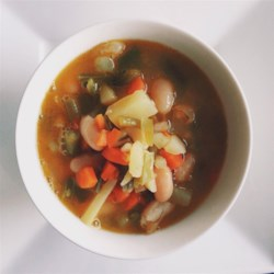 Quick Vegetable Soup Recipe - Quick and easy vegetable soup using 10 simple ingredients can be ready in 30 minutes for busy weeknight meals.