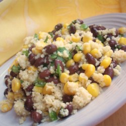 Mayan Couscous Recipe - Toasted garlic, jalapeno peppers, and fresh lime juice liven up this Mexican version of couscous salad.