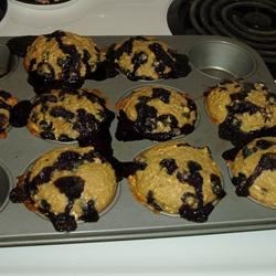 Explosive Blueberry Oatmeal Muffins