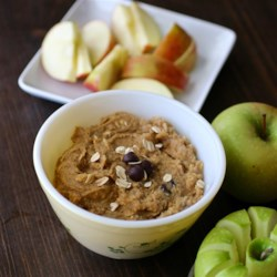 Faux Cookie Dough Dip Recipe - This gluten-free faux cookie dough dip has a secret ingredient, chickpeas, combined with peanut butter, oats, chocolate chips, and brown sugar.