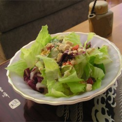 Zinfandel Salad Or Slaw Dressing Recipe - This creamy dressing is spiced up by fresh green onions and garlic and a hefty splash of red wine.