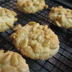 Pignoli Cookies II Recipe - Also called pine nut cookies.  I make them and my family eats them so quickly I have to hide a few so I get some.