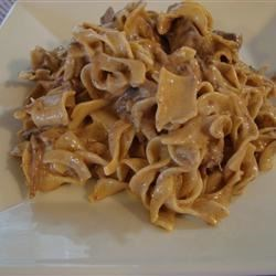 Slow Cooker Beef Stroganoff II Recipe - A delicious beef stroganoff recipe for the slow cooker. This one uses round steak and golden mushroom soup mixed with egg noodles and sour cream. Very simple to assemble and the slow cooker does the work for you.