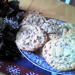 big fat chewy choc chip cookie