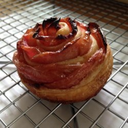Baked Apple Roses Recipe and Video - Apple slices are arranged in rose shapes on puff pastry and baked in individual ramekins for a pretty fruit dessert or delicious breakfast Danish.
