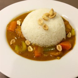 Chef John's Peanut Curry Chicken Recipe - Chef John's Peanut Curry Chicken draws from many recipes--it's a winning combination of flavors, spices, textures, and colors for a easy and delicious dinner.
