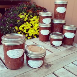 Pear Jam Recipe - Glass jars preserve the sweet taste of late summer in the form of pear jam flavored with warm spices.