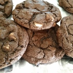 White Chocolate, Chocolate Cookies Recipe - The reverse Chocolate Chip cookie. Rich dark chocolate with white chocolate chips.
