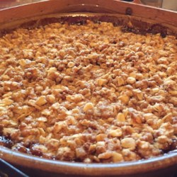 Crispiest Apple Crisp Recipe - Rolled oats and Grape Nuts(R) make a crunchy topping for this classic apple crisp.