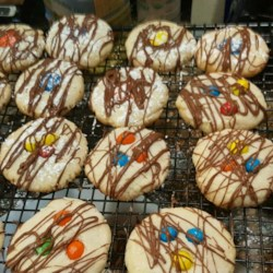 Easy Butter Cookies II Recipe - Dainty butter cookies with chocolate on the bottom.