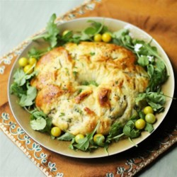 Tuna Ring Casserole Recipe - This cheesy bread ring is a fun way to prepare tuna and presents nicely at the dinner table.